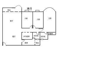 白云骏景花园 实用131方 安静3房 南北通透 看房方便